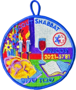 2021 Scout Shabbat patch for In-Person Attendance