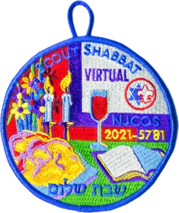 2021 Scout Shabbat patch for Virtual Attendance