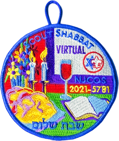 2021 Scout Shabbat patch for Virtual Attendance