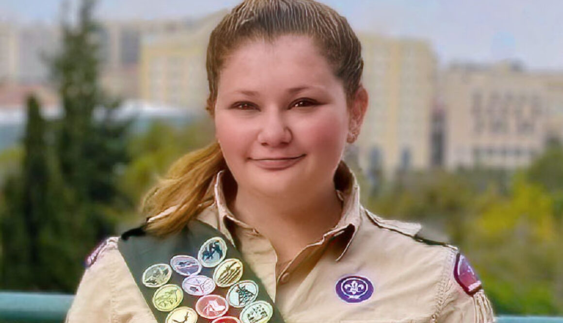Gabbi S., the first Orthodox Jewish girl to earn the rank of Eagle Scout